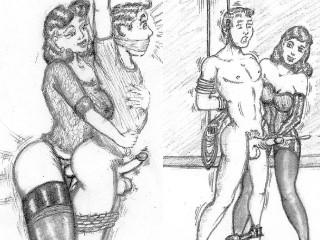 Femdom Erotic Art Drawings